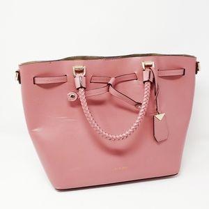 Michael Kors Pink Leather Blakely Bucket Bag